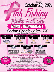 2nd Annual Pink Fishing Reeling in the Cure Tournament Flyer