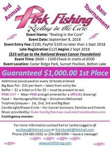 3rd Annual Reeling in the Cure Tournament, September 8, 2018